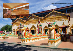 Thai Buddhist Temple in Penang, Malaysia (Haotian74) Tags: travel tourism motif glitter architecture thailand religious gold worship shrine colorful buddha buddhist religion sightseeing mosaics buddhism philosophy tourist structure georgetown altar spire exotic thai malaysia embellishment pavilion penang spiritual attraction ethic lavish sightsee watchaiyamangalaram