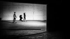 Come fly with me! (Frank Busch) Tags: street city boy blackandwhite girl monochrome museum blackwhite spain streetphotography riding skateboard palma palmademallorca citytour esbaluard frankbusch wwwfrankbuschname photobyfrankbusch frankbuschphotography imagebyfrankbusch