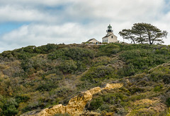 The Old Point Loma Lighthouse (Ron Drew) Tags: california trees lighthouse museum clouds nikon sandiego hillside nationalmonument d800 pointloma cabrillonationalmonument
