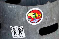 "Roma. Villaggio globale. Street art/sticker art by Bol-""Lalla"", True Love (R come Rit@) Tags: urban italy streetart rome roma muro art wall photography graffiti sticker stickerart italia arte label streetphotography wallart urbanart writers streetartist labels roadsign walls graff bol truelove segnalistradali graffitiart muri lalla trafficsignals signposts arteurbana stickerbomb graffitirome italystreetart streetartitaly romegraffiti graffitiroma slapart streetartrome streetartphotography romastreetart streetartroma romestreetart urbanartroma ritarestifo signscommunication romeurbanart"