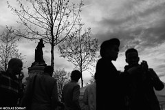 Nuit debout (Nicko91220) Tags: bw paris streetphotography wb rue manif republique nuitdebout