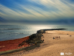 Playa de Santa Maria del Mar (Mange) Tags: costa marina mar playa paisaje cadiz atlntico oceano