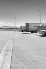 Mecca Travel Center II (autobahn66.com) Tags: california blackandwhite landscape desert trucks saltonsea bigrig