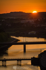 Sunset from Millmount 15th May 2016 (mythicalireland) Tags: ireland sunset sky sun river evening town dusk valley louth drogheda boyne settingsun