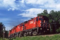 91-07-25 1-0 CP4214 (jhwright105) Tags: railroad me westbound manifest mooseheadlake harfordspoint mooseheadsub cp4214