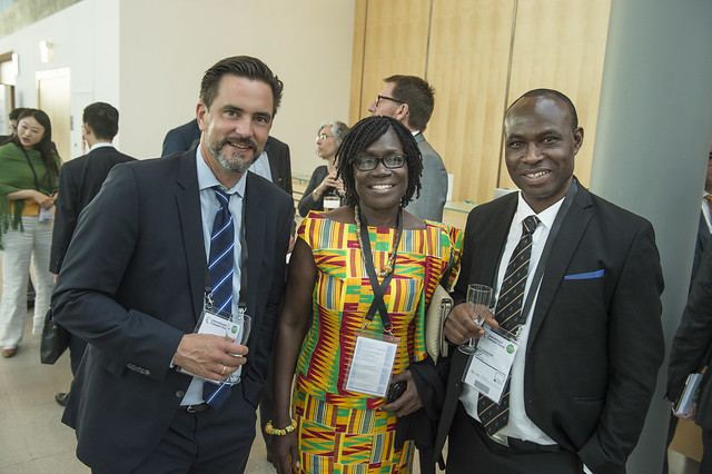 Agartha Frimpong and Dr. Edward Adusei at Cocktail Reception