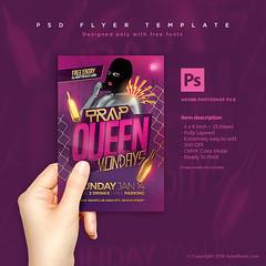 Trap Queen Party Flyer PSD Template (Hypeflyers) Tags: urban music photoshop concert flyer nightclub invitation hiphop rap psd urbandesign gangsta template  partyflyer plantilla musicposter concertflyer pinkdesign  musicflyer psdtemplate flyertemplate plantillapsd trapqueen