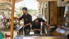 The nice falafel guys (Kodak Agfa) Tags: egypt syria syrians refugees syrianrefugees giza octobercity citizenjounralism africa mideast middleeast northafrica