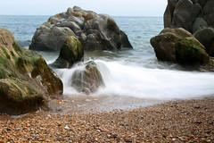 Blackpool Sands (KevHaseldine) Tags: uk longexposure summer holiday southwest beach rocks shingle pebbles devon blackpoolsands canon1100d