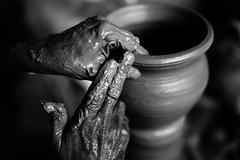 Making of Clay Pot (Ravikanth K) Tags: 500px clay pot making pottery mud hands dirty hardwork muddy spin monochrome blackandwhite dailylife work working fingers designing shape indoor round job chennaiweekendclickers cwc thiruneermalai chennai india tamilnadu