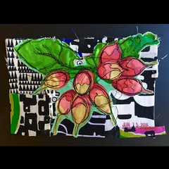 Bouquet of Radishes (opal c) Tags: radishes fabric bouquet radish fabricart bouquetofradishes