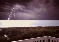beach storm (Samuel Louis McCloud) Tags: lightening storms sunsetbeachnorthcarolina