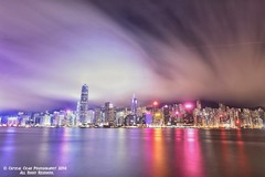Night City~Hong Kong~ (crystalchan777) Tags: ocean city longexposure light shadow sea seascape building water architecture hongkong landscapes colorful cityscape nightscape lighttrails nightlife cloudscape waterscape architecturephotography 500px nikonphotography cloudsexposure naturebynikon