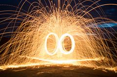 My Solstice Celebrations (My_adventure) Tags: nightphotography night longexposure summersolstice nighttime dark highiso fire wirewool firepaint