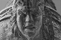 details of an urn on the premises of Battle Abbey (Shot Yield Photography) Tags: uk greatbritain england bw white black detail english monochrome abbey cemetery urn dark photography photo scary foto place shot image picture atmosphere battle eerie medieval historic haunted creepy spooky mysterious british yield exploration remains mystic battleabbey premises 2016 englishheritage garveyard shotyieldphotography