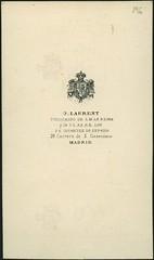 "Jean Laurent, trasera de ""Retrato de un militar"" (carte de visite, ca. 1860) (Museo del Romanticismo) Tags: de xix visite carte fotografa siglo romanticismo jeanlaurent"