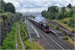 45690. 'The East Yorkshireman'. (Alan Burkwood) Tags: brightside sheffield lms stanier 6p jubilee 45690 leander eastyorkshireman steam locomotive disused station