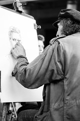 Street Art   172/365+ (petra.zublasing) Tags: rome italy roma people artist sketch europe street blackandwhite