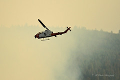 Now that's what I call a fire attack helicopter! (trifeman) Tags: 2016 california summer canon 7d canon7dmarkii july enf eldorado placer eldoradonationalforest trailheadfire trailhead helicopter aeu neu usfs
