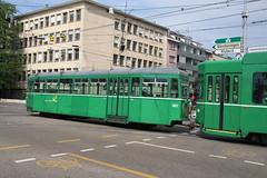 1457 (KennyKanal) Tags: tram grn aw bv bvb ffa altenrhein basler verkehrsbetriebe schienenfahrzeug drmmli