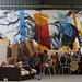 Graff et capharnaüm au paradis des skaters, ancienne caserne Niel, quai de Queyries, La bastide, Bordeaux, Gironde, Aquitaine, France.