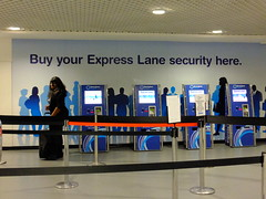 Anything can be solved with money (stevenbrandist) Tags: uk money airport birmingham security expresslane bhx
