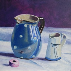Two Jugs (TimBurnsArt) Tags: stilllife art painting contemporaryart contemporary british oils timburns britishart timburnsart