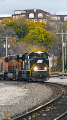 Norfolk Southern SD70Ace 1073  Penn Central Heritage Unit (MIDEXJET (Thank you for over 2 million views!)) Tags: wisconsin unitedstatesofamerica waukesha norfolksouthern waukeshawisconsin sd70ace norfolksouthernheritageunit nsheritageunit ns1073 penncentralheritageunit