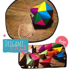DIY-Fun: Origami-Ball with friends & kids & #garnundmehr.   Ich liebe das neonpink-weiße Garn von @garnundmehr 💈 ... Passt super zu dem bunten #Kugel-Stern