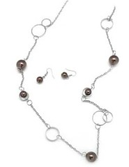5th Avenue Brown Necklace P2320A-3