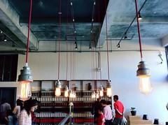 Parallel up. (胡亨董) Tags: lamp asia taiwan 台灣 taoyuan teahouse 臺灣 teafactory 台湾 daxi 2014 大溪 亞洲 燈泡 茶場 茶廠 大溪老茶廠
