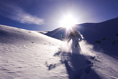 Powder (stetteo) Tags: winter snow mountains alps pentax powder neve inverno orobie bergamo rifugio kx benigni stetteo