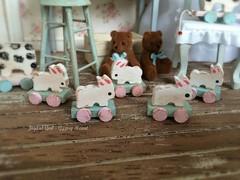 (*Joyful Girl ♥ Gypsy Heart *) Tags: white bunny shop easter toy miniature spring rabbits etsy 112 dollhouse shabby lati joyfulgirlgypsyheart