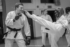 [2015-01-22@20.44.35a] (Untempered Photography) Tags: girl monochrome training fight child martialarts karate teen dojo gi sparring pads shotokan canonef50mmf14 untemperedeye canoneos5dmkiii untemperedeyephotography jiyukumite