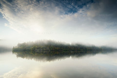 Floating landscapes (Stuart Stevenson) Tags: uk longexposure trees mist sunrise photography scotland morninglight still earlymorning serene loch trossachs tranquil freshwater rollingin lochard clydevalley lateautumn scotchmist canon1740mm thanksforviewing canon5dmkii stuartstevenson stuartstevenson