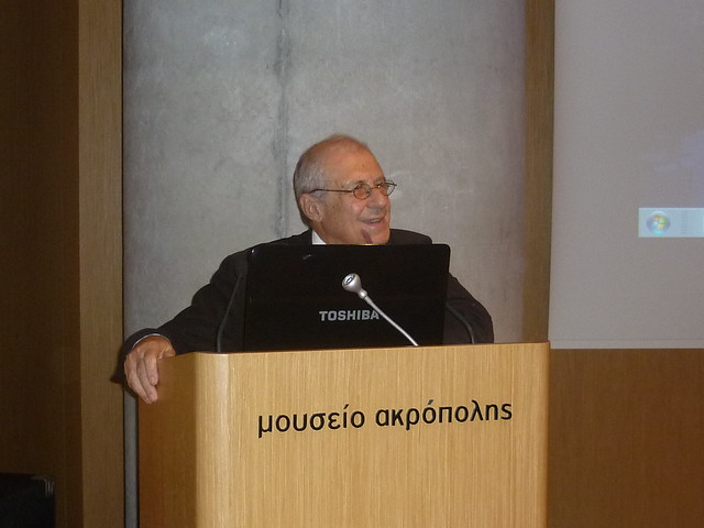 Prof. Pantermalis, President of the Acropolis Museum at his welcome speech