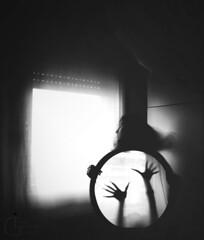 Morning fears (Irene Leonetta Guarneri) Tags: blackandwhite selfportrait window self naturallight bn conceptual bnw nightmares dreamsandnightmares artlibres conceptualselfportrait