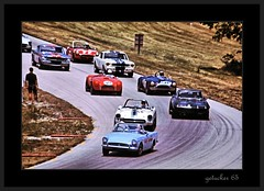 Crowd Control (the Gallopping Geezer 3.7 million + views....) Tags: auto car wisconsin racetrack race corner track hill crowd competition racing geezer 1965 corel scca sportcar elkartlake