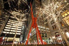 Joie de Vivre by Mark di Suvero. (dansshots) Tags: nyc newyorkcity cityscape manhattan bigapple cityscene iloveny newyorkatnight thebigapple joiedevivre zuccottipark nikond3 dansshots
