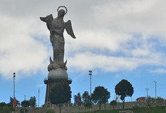 The Woman & The Dragon (Odonata457) Tags: statue quito snake mary el virgin panecillo