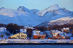 Tromso in the Snow (David Alexander Elder) Tags: cruise november david norway circle lights norge search arctic elder fred alexander northern olsen tromso boudicca 2014 in