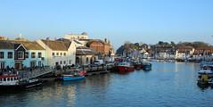 Weymouth harbour... (petegatehouse) Tags: uk sea england reflection dorset pubs fishingboats weymouth harbourside quayside weymouthharbour