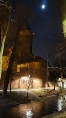 Olsztyn's Castle (kojotomoto) Tags: moon tower castle night poland polska most brigde olsztyn ksiyc zamek wiea