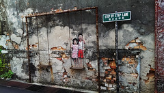 Penang Georgetown brother and Sister on a Swing by Louis Gan (leewoods106) Tags: street trip travel red vacation holiday streetart brick green art beautiful smile sign wall children happy photography town photo rust southeastasia artist play photos sister brother bricks culture wallart georgetown swing unesco warehouse lane malaysia penang traveling traveler beautifulplaces printingwarehouse unescoheritagesight louisgan stepbysteplane worldunescoheritagesight