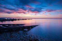 Tranquility (Christophe_A) Tags: sunset sea bw seascape landscape nikon greece nd bluehour christophe d800 patra nikon2470 christopheanagnostopoulos