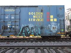 apart (derrrff!!!!!!) Tags: art train graffiti paint steel painted tags spray railcar graff aerosol railfan freight rolling fr8 monikers benched benching