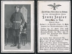 Franz Zogler (Paranoid_Womb) Tags: soldier army war postcard wwi ak german weapon imperial soldiers ww1 1914 1915 greatwar 1917 1918 1916 weltkrieg