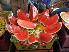 fresh watermelon (the foreign photographer - ) Tags: road canon thailand for sale bangkok fresh powershot watermelon a610 bangkhen phahoyolthin