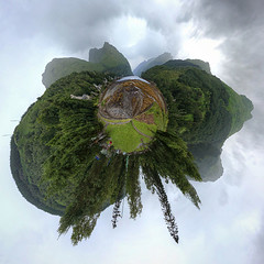 Planet Arrochar (Non Paratus) Tags: uk panorama clouds scotland grampianmountains inlet arrochar benarthur thecobbler lochlong sealoch arrocharalps argyllandbute polarpanorama planetarypanorama argyllalps
