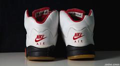nike air jordan v fire red '99 (thatgirlwiththekicks) Tags: tongue shoes 5 metallic air 1999 sneakers nike retro jordan v 99 kicks swoosh beaters firered